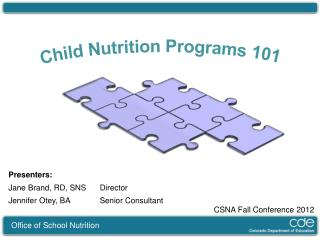 Child Nutrition Programs 101
