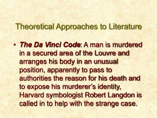 theoretical approaches to literature