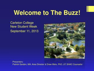 Welcome to The Buzz!