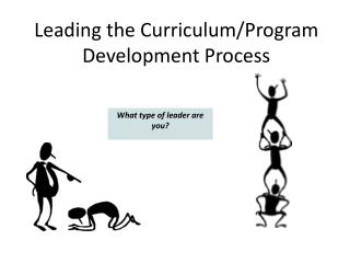 Leading the Curriculum/Program Development Process