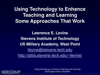 using technology to enhance teaching and learning some approaches that work
