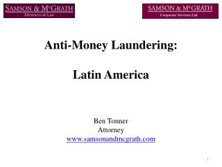 Anti-Money Laundering:  Latin America