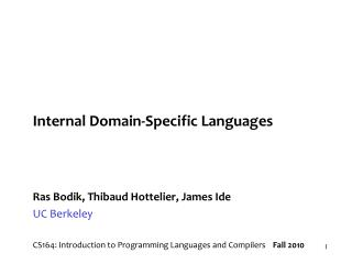 Internal Domain-Specific Languages