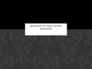 Religion in the United Kingdom
