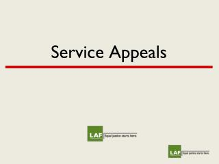 Service Appeals