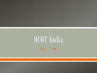 RCOT India