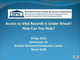 Access to Vital Records Is Under Attack! How Can You Help?