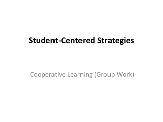 elements of a student centered classroom