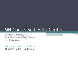 MN Courts Self-Help Center