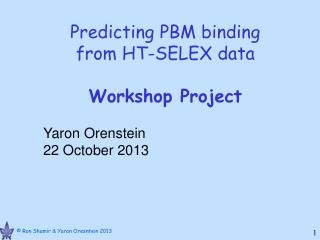 Predicting PBM binding  from HT-SELEX data Workshop Project