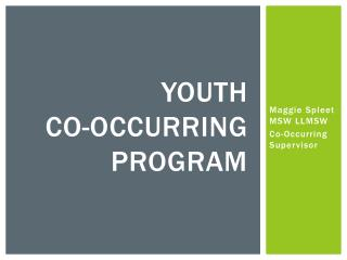 Youth  Co-occurring Program