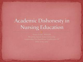 Academic Dishonesty in Nursing Education