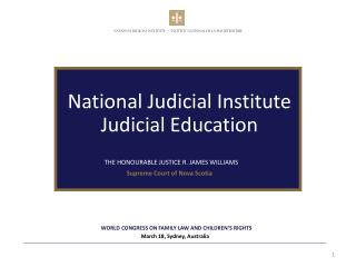 National Judicial Institute Judicial Education