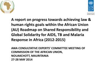AWA CONSULTATIVE EXPERTS' COMMITTEE MEETING OF  COMMISSION OF THE AFRICAN UNION,  NOUAKCHOTT, MAURITANIA 27-28 MAY 201