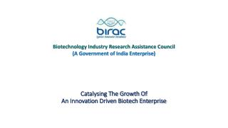 Catalysing The Growth Of  An Innovation Driven Biotech Enterprise