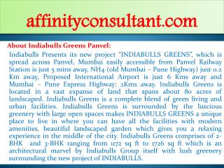 wanted 2 bhk,3 bhk apartments indiabulls greens panvel