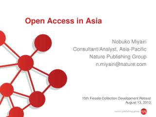 Open Access in Asia