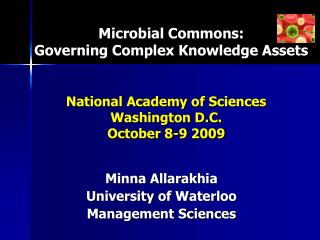 Microbial Commons: Governing Complex Knowledge Assets