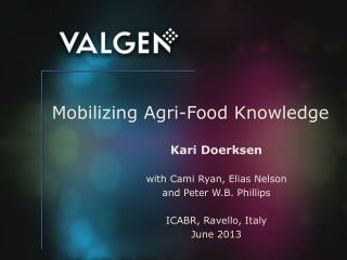 Mobilizing  Agri -Food Knowledge