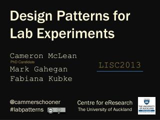 Design Patterns for Lab Experiments