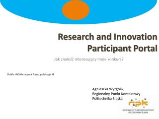Research  and  Innovation Participant  Portal
