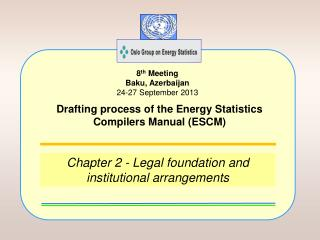 Chapter 2 - Legal foundation and institutional arrangements