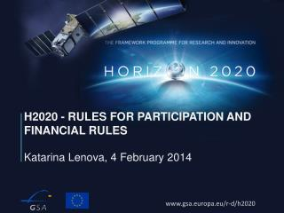 H2020 - Rules for participation and financial rules