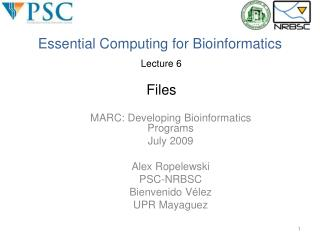 Essential Computing for Bioinformatics