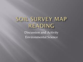 Soil Survey Map Reading