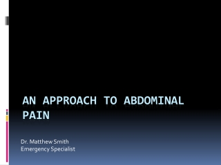 An approach to abdominal pain