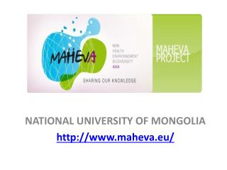 NATIONAL UNIVERSITY OF MONGOLIA http://www.maheva.eu/