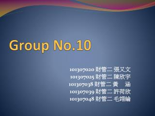 Group No.10