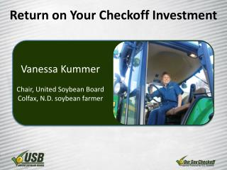 Return on Your  Checkoff  Investment