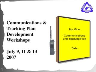 communications  tracking plan  development workshops  july 9, 11  13 2007
