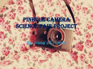 Pinhole Camera Science Fair Project