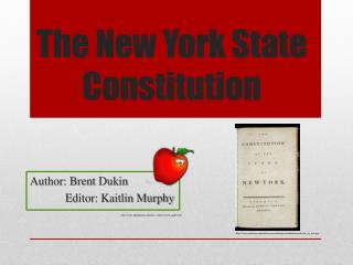 The New  York State Constitution
