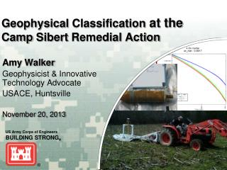 Geophysical  Classification at the  Camp  Sibert  Remedial Action