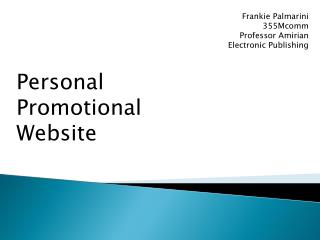 Personal Promotional Website