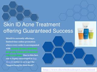 skin id - how to cure acne