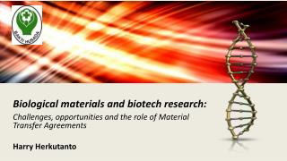 Biological materials and  biotech research: