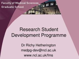 Research Student Development Programme