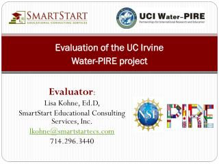 Evaluation of the UC Irvine Water-PIRE project