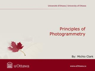 Principles of Photogrammetry