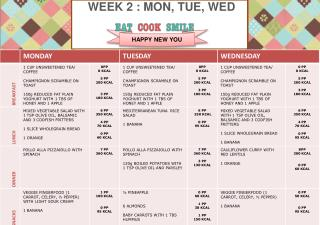 WEEK  2  : MON, TUE, WED