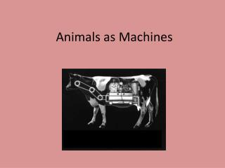 Animals as Machines
