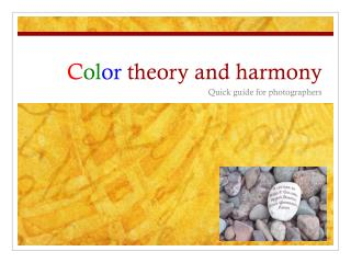 C ol or  theory and harmony