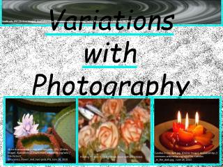 Variations with Photography LTEC 3220.020 Clair O'Brien