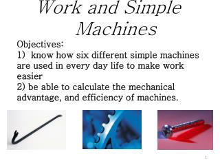 What are the 6 types of  Simple Machines