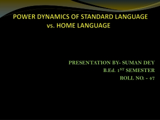 power  language:  cultural capital