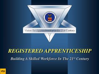 REGISTERED APPRENTICESHIP Building A Skilled Workforce In The 21 st  Century